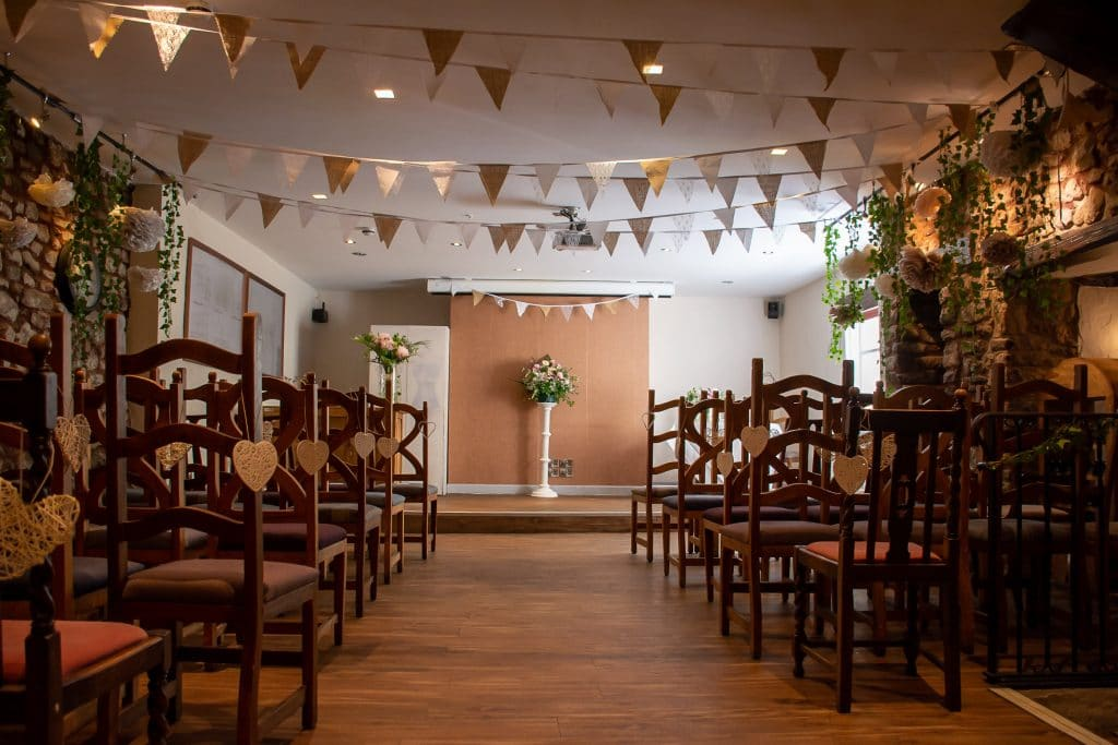 The Oak Suite set for a ceremony